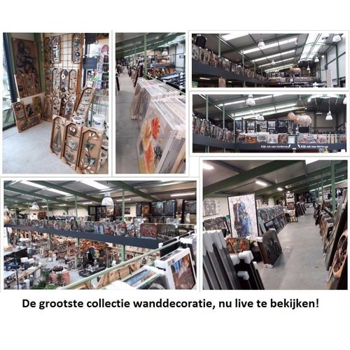 Ter Halle 3D-Malerei Metall Holz Ober NY 80x120cm