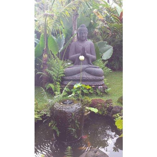 Eliassen Greeting Buddha statue on lotus in 6 sizes