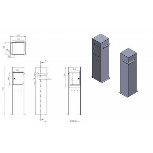 Adezz Producten Brievenbus Ivar Adezz  aluminium