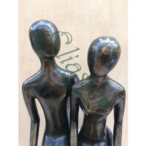 Eliassen Bronzen beeld zittend koppel