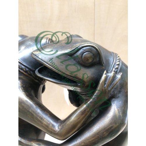 Eliassen Bronzen beeld Dansende kikkers