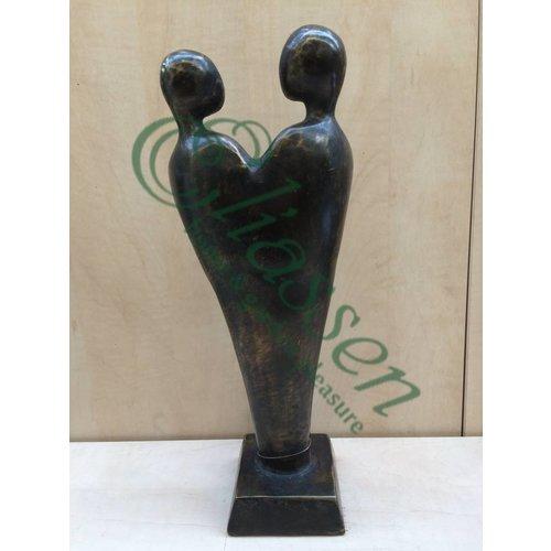 Eliassen Bronzestatue Paar Herz
