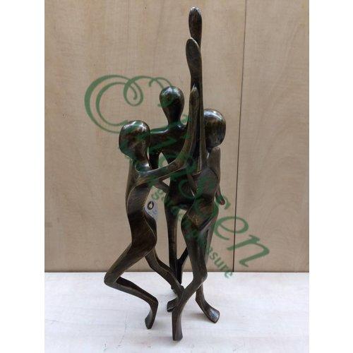 Eliassen Bronzeskulptur Kreis 3 Frauen