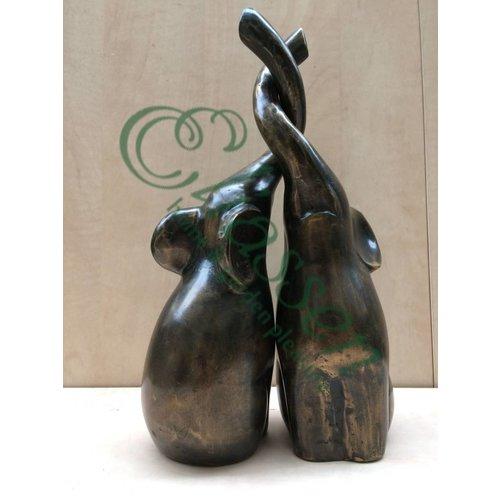 Eliassen Bronzen beeld Set Olifanten