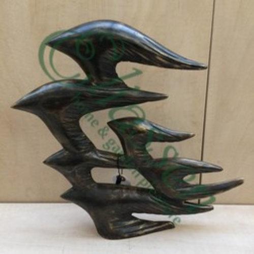 Eliassen Bronzestatue Flug von 6 Vögeln