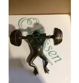 Bronzen fitness kikker