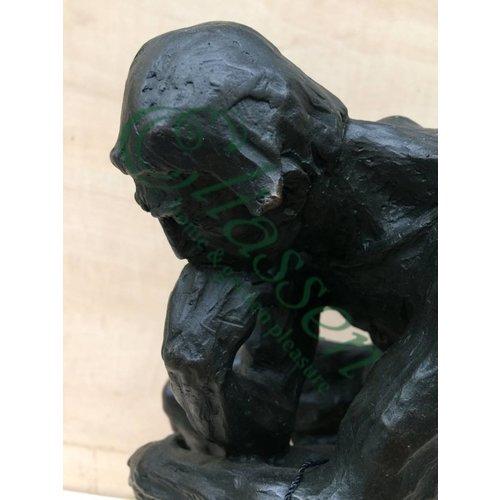 Eliassen Beeld brons denker van rodin 28 cm