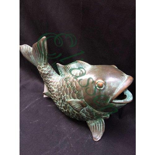 Eliassen Beeld spuitfiguur brons vis
