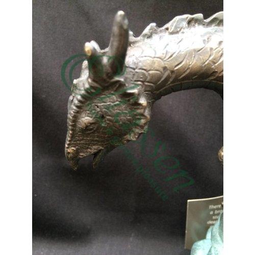 Eliassen Beeld spuitfiguur brons draakje op een rots