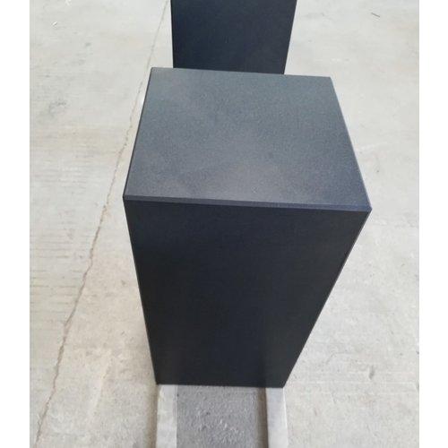 Eliassen Basis schwarzer Granit matt 25x25x75cm