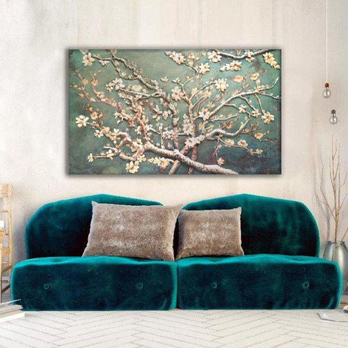 Eliassen 3D schilderij metaal 80x120cm Amandelbloesem