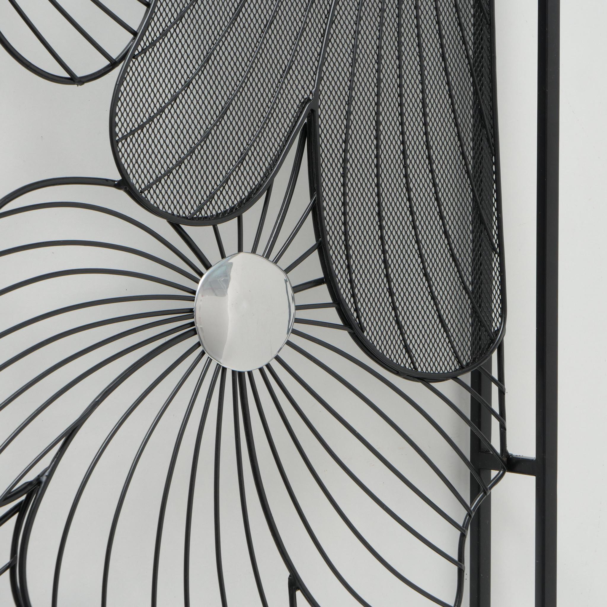 Muurdecoratie 3d   Pansy 75x75cm