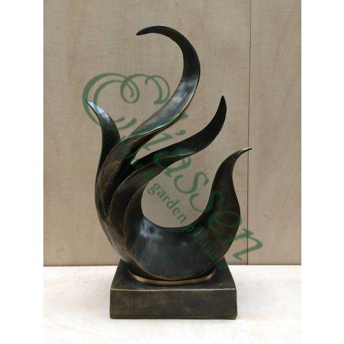 Eliassen Bronzestatue abstrakte Figur