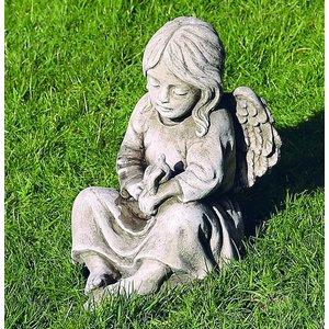 Dragonstone Garden statue angel with bird