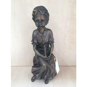 Eliassen Grafdecoratie meisje met kaars brons