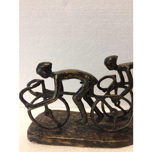 Bronzeradfahrerpeloton