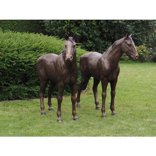 Bronzen koppel paarden