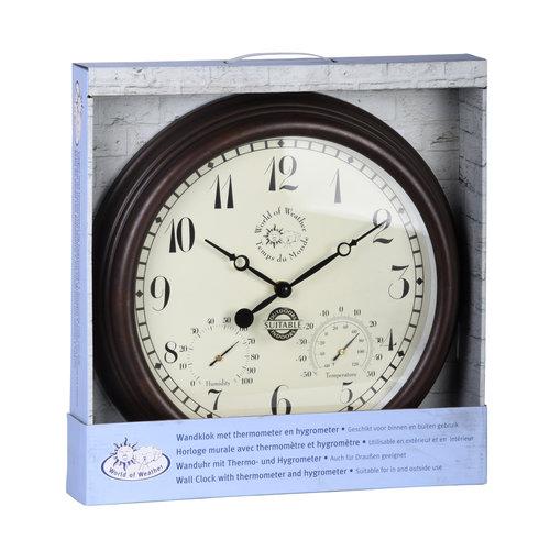 Außenuhr mit Thermometer und Hygrometer