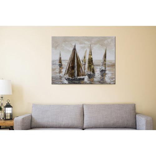 Canvas schilderij Luwte 100x100cm