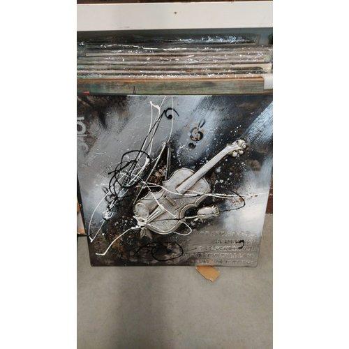 Canvasschilderij viool 80x80cm