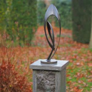 Abstraktes Bronzebild Endlos klein