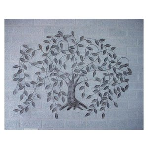 Wall decoration Weeping willow 117x85cm