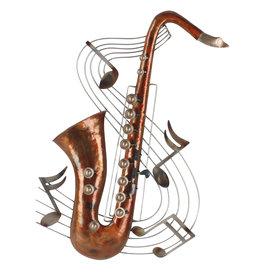 Metall 3d Wanddeko Saxophon