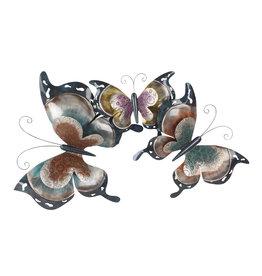Wanddeko 3d 3 große Schmetterlinge