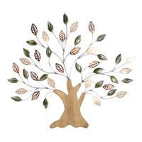 Wanddeko 3d Baum mit Holzstamm