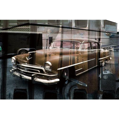 Glasmalerei Cadillac 80x120cm