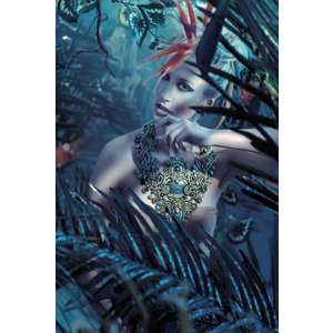 Glas schilderij Rimboe 80x120cm