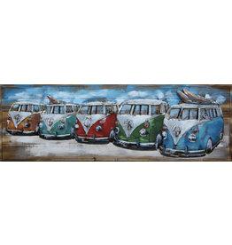 Painting metal-love 3d 5 vans 50x150cm