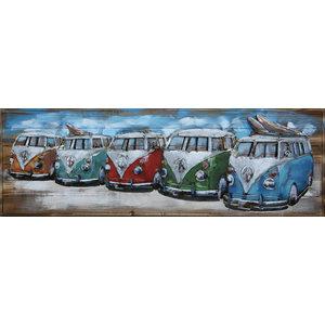 Malerei Metall-Liebe 3d 5 Lieferwagen 50x150cm