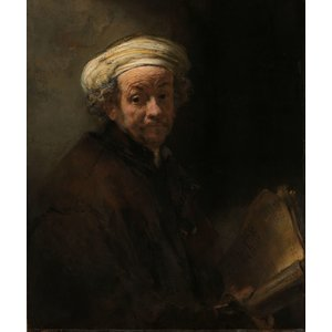 Glass painting 60x90cm Rembrandt gold foil