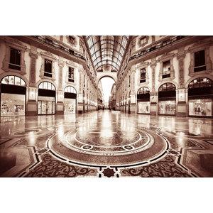 Glasmalerei Gebäude groß 160x110cm