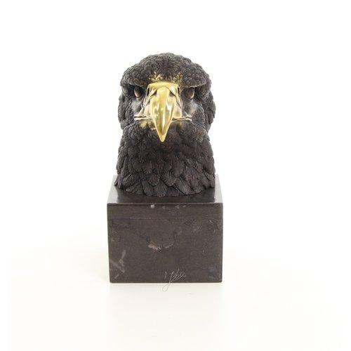 Bronzen beeld adelaarshoofd