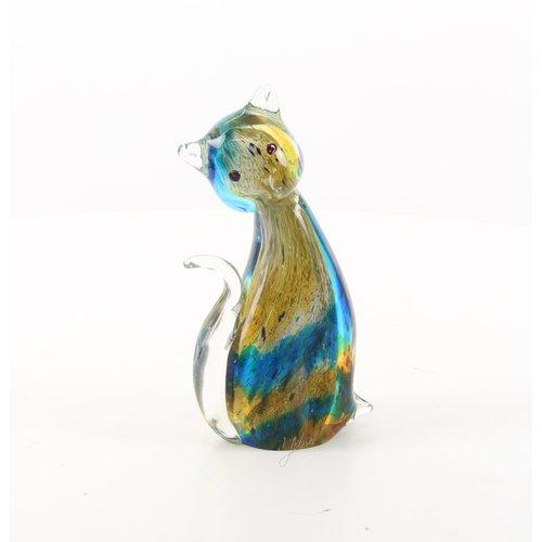 Murano style glass statue cat