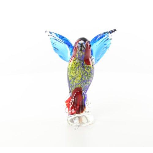 Murano style glass kingfisher image