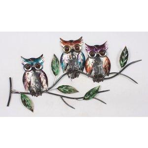 Wall decoration 3d 3 Owls