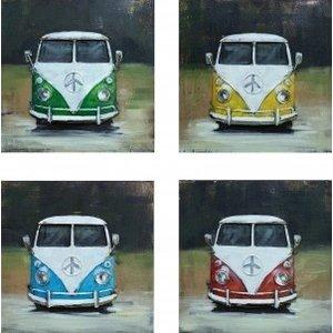Four-panel metal vans