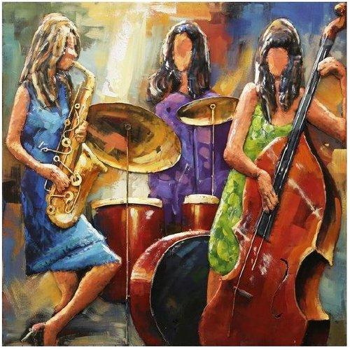 Malerei Frauenband 100x100cm