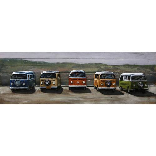Lackieren von Metall-Holz-Kleinbussen 60x180cm