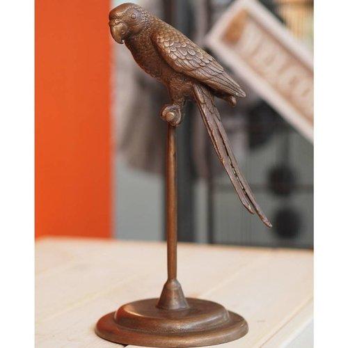 Eliassen Beeld brons papegaai op stok