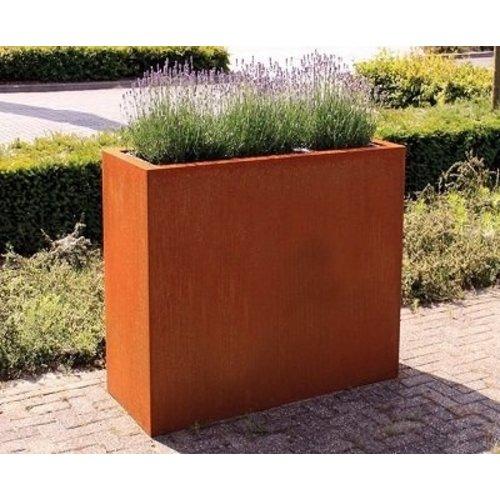 Corten Stahlbox Rechteck hoch