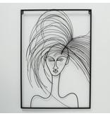 Wanddekoration 3d Hairy Girl