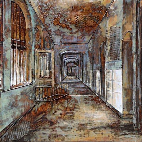 Eliassen Gemälde Eisen 3D 100x100cm Kloster