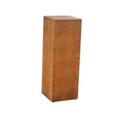 Cortenstahl Basis 28x28x80cm