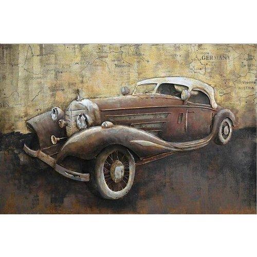 Eliassen 3D-Malerei Metall 80x120cm Mercedes