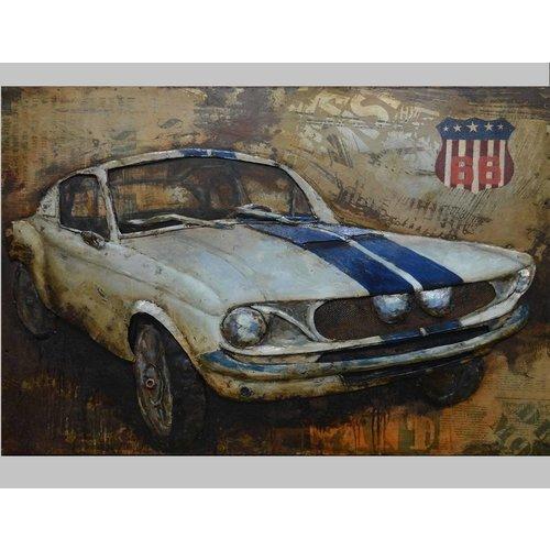 Eliassen 3D schilderij metaal 80x120cm Sportscar