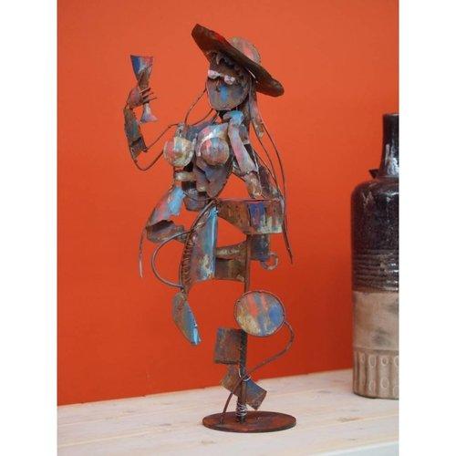Eliassen Figur Dame mit Weinglas